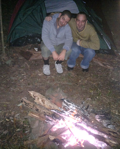Camping - Raz and myself